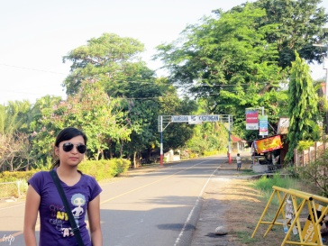 Odey at the jump off point at Mt. Samat