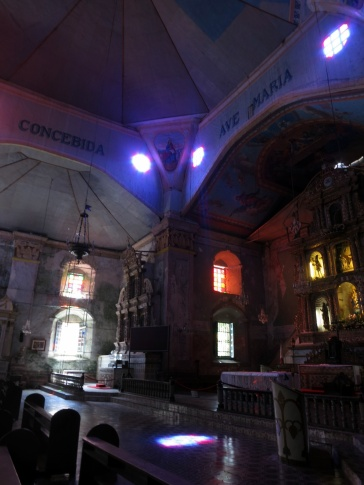 Play of lights at the Baclayon Church - one of the oldest church in the Philippines