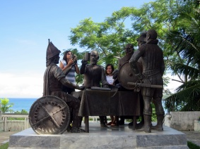 Going back in history at the Blood Compact site