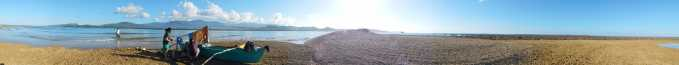 a 360 degree view of the sand bar